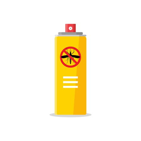 Mosquito insect reppelent bottle icon. Bug and mosquito reppelent spray aerosol prevention  イラスト・ベクター素材