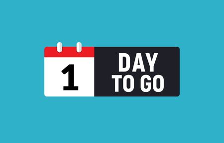 1 day to go last countdown icon. One day go sale price offer promo deal timer, 1 day only Ilustração