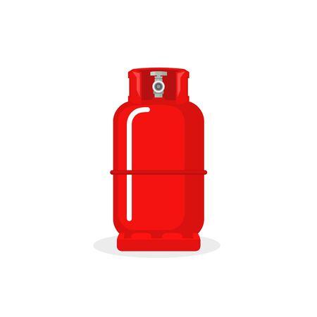 Zbiornik wektor butli gazowej. Pojemnik na ikonę butelki propanu LPG. Przechowywanie paliwa w kanistrze z butlą z tlenem
