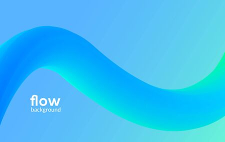 Abstract futuristic flow background wave pattern gradient flyer design dynamic modern liquid banner poster