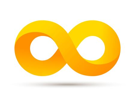 Infinity logo symbol vector sign. Infinite loop icon endless eternity element