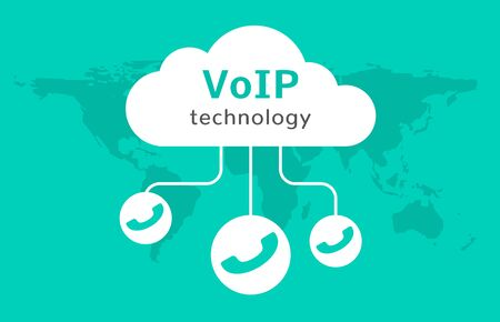 Voip vector icon. Internet call concept connection. Voice over network, voip sign.