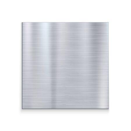 Metal texture aluminium steel background. Silver vector pattern stainless iron grey texture.