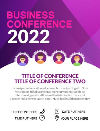 Business conference simple template invitation. Geometric magazine conference or poster business meeting design banner. Illustration