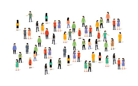Vector people group crowd social team large person together people network communication Archivio Fotografico - 133432433