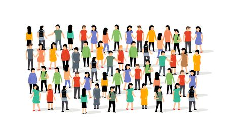 Vector people group crowd social team large person together people network communication Archivio Fotografico - 133432729