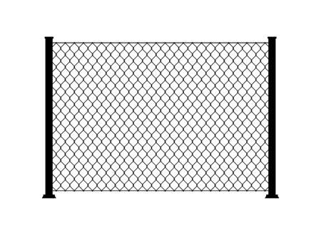 Maillon de chaîne métallique en fil de clôture. Mur de grille de cage de clôture de texture de filet d'acier de maille.