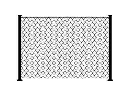 Fence wire metal chain link. Mesh steel net texture fence cage grid wall.
