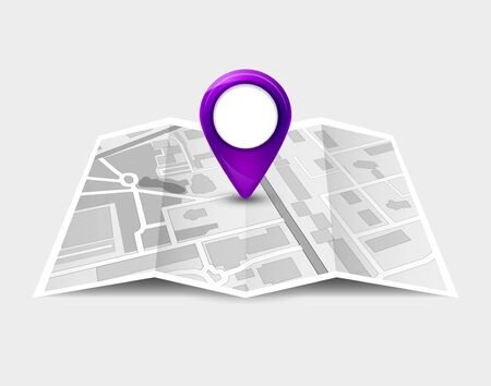 Map gps pin icon vector road. Travel home city street marker. Navigation gps illustration Banque d'images - 133433813