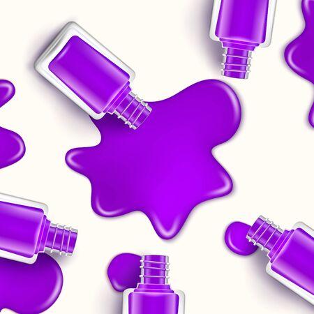 Kropla lakieru do paznokci. Kosmetyczna butelka do makijażu lakier do paznokci lub manicure Ilustracje wektorowe