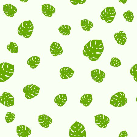 Tropical seamless pattern palm jungle floral monstera print foliage leaf pattern.