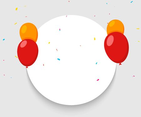 Balloon banner happy birthday background. Celebrate party surprise balloon banner carnival anniversary