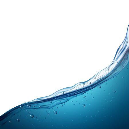 Water wave clean liquid background. Blue sea wave water surface, fresh ocean underwater