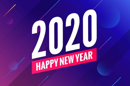 2020 new year happy eve party background. 2020 christmas vector poster design.