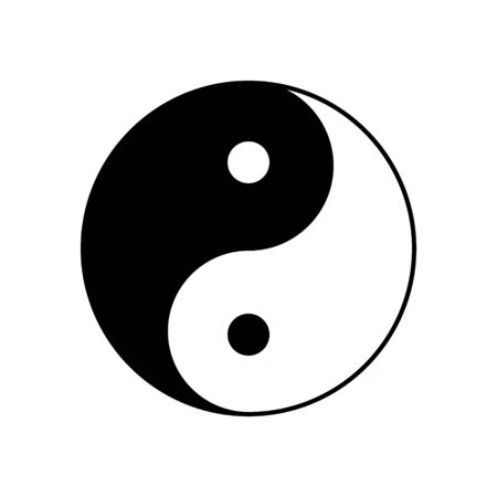 Yin yang vector symbol icon. Yinyang taoism chinese sign. 矢量图像