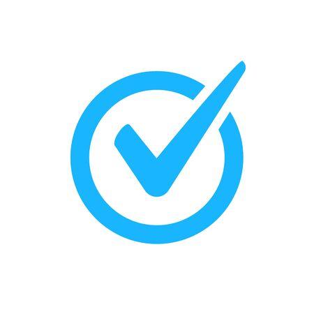 Segno di spunta icona vettore. Segno di spunta simbolo giusto segno di spunta. Pulsante Ok icona cerchio corretto