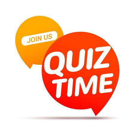 Quiz time icon concept. Vector sign ask game competition