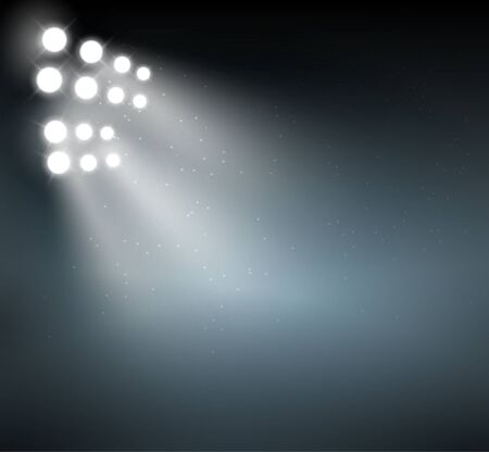 L'arrière-plan du projecteur affiche l'arrière-plan. Scène de projecteur abstrait vecteur lueur bleu clair