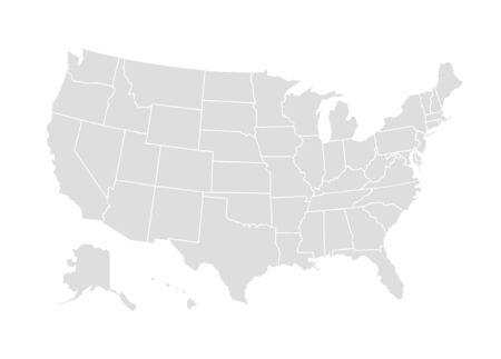 Vektor-USA-Karte-Amerika-Symbol. Vereinigte Staaten von Amerika Land Weltkarte Abbildung