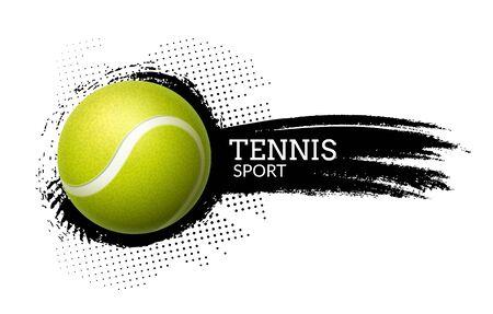 Tennis ball vector background illustration sport graphic ball icon on splash Vector Illustratie