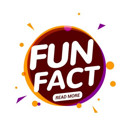 Fun fact typography bubble. Did you know knowledge design text message phrase information Иллюстрация