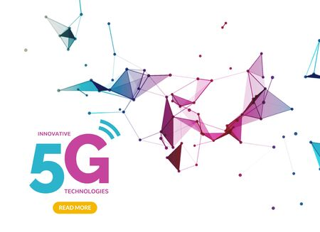 5G vector wifi wireless technology connection, mobile transmission speed. Digital data 5g connection