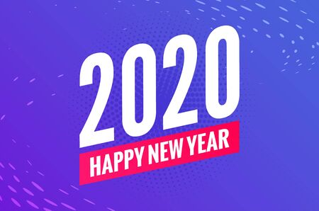 2020 new year happy eve party background. 2020 christmas vector poster design