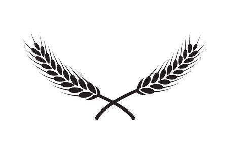 Icône de victoire de branche de récompense de vecteur de couronne de laurier. Emblème de feuille vintage de couronne de laurier gagnant.