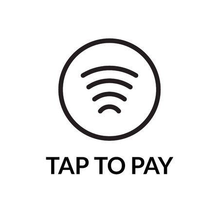 Contactless NFC wireless pay sign. Credit card nfc payment vector concept