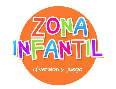Kids Zone - zona infantil game banner design background. Playground vector child zone sign. Childhood fun room area.