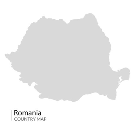Romania map vector contour. Romanian map country design isolated travel illustration