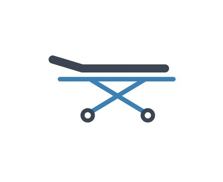 Stretcher bed icon. Vector patient hospital medical stretcher.