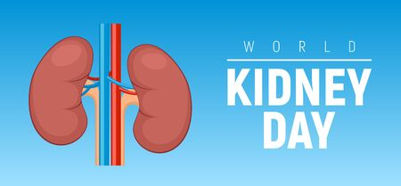 World kidney day vector healthy concept background poster Vettoriali