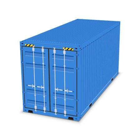 Cargo container 3d isolated storage shipping box. Export import container warehouse. Vektorové ilustrace