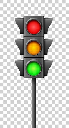 Street traffic light icon lamp. Traffic light direction regulate safety symbol isolated