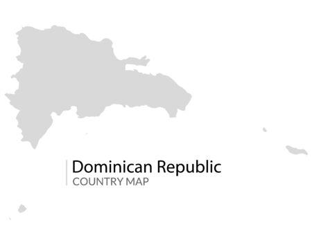 Dominican republic map vector country carribean island.