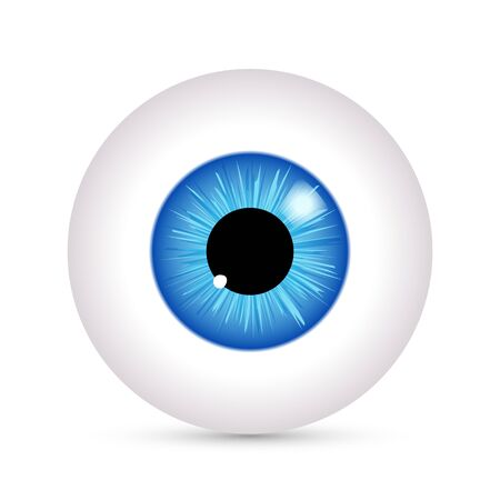 Auge Vektor-Look-Symbol. Augapfel Vision blaue Sehkraft Ansicht Symbol Ball isoliert Symbol Abbildung.