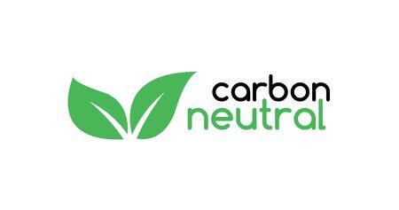 Carbon neutral icon logo. CO2 energy monoxide carbon ecology background label concept.
