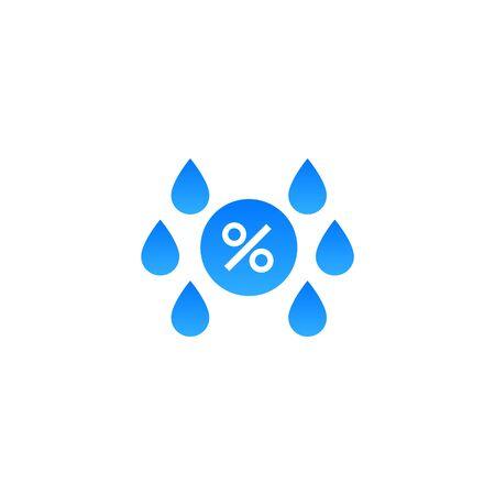 Humidity water icon. Vector temperature dry air humidity icon symbol 矢量图片