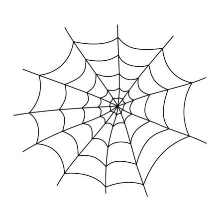 Spider web cobweb vector icon, Spiderweb border circle cartoon net clipart Ilustração