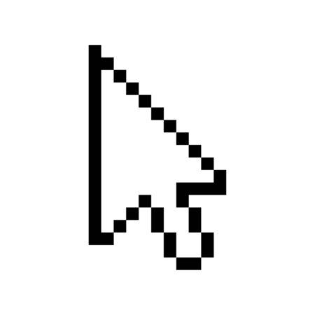 Cursor mouse icon. Cursor pixel pointer arrow. vector web finger click icon  イラスト・ベクター素材