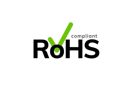 RoHS recycle icon sign. Compliant china energy ce label global symbol package  イラスト・ベクター素材