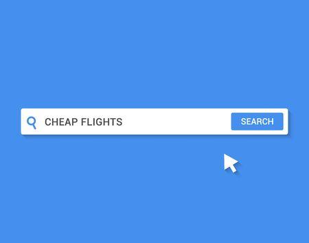Cheap flight ticket offer. Flight promo travel deals discount search bar