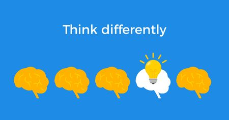 Think different infographic concept trend initiative people. Entrepreneur crowd  イラスト・ベクター素材