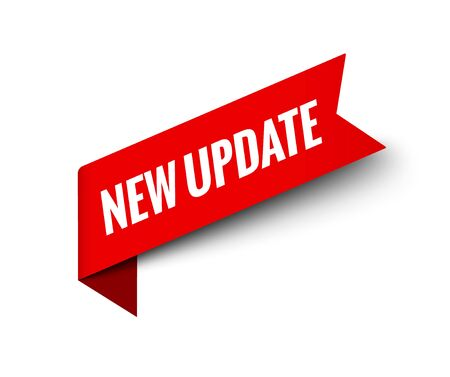 Nouvelle balise de bouton de mise à jour. À venir mettre à jour le service d'autocollants d'étiquettes maintenant l'étiquette promotionnelle Vecteurs
