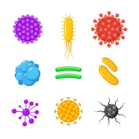 Virus bacteria corona infection immune icon. Virus logo icon bacteria vector
