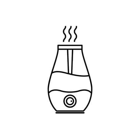 Humidifier air diffuser line icon. Purifier microclimate ultrasonic home flat icon, healthy humidity  イラスト・ベクター素材