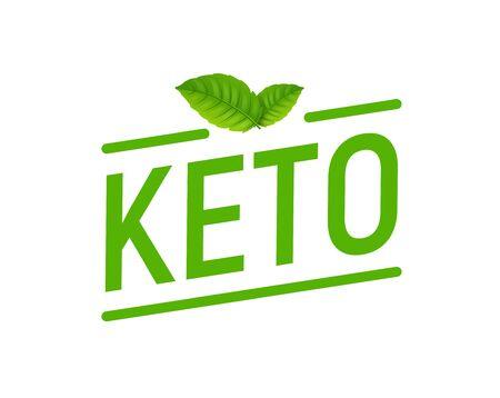 Icône de niveau de régime Keto. Complément alimentaire riche en protéines cétogènes