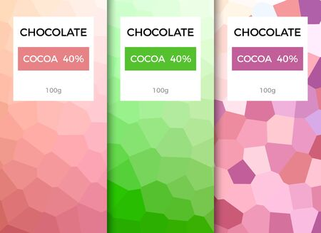 Chocolate bar packaging template design. Chocolate branding product pattern. Vector luxury design package