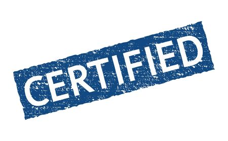 Certify official seal stamp badge. Accredited vector certified icon sticker guarantee company